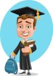 Male College Graduate Cartoon Vector Character AKA Tyler - Shape 5