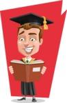 Male College Graduate Cartoon Vector Character AKA Tyler - Shape 7