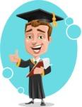 Male College Graduate Cartoon Vector Character AKA Tyler - Shape 11