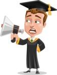 Male College Graduate Cartoon Vector Character AKA Tyler - Loudspeaker