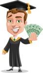 Male College Graduate Cartoon Vector Character AKA Tyler - Show me the Money