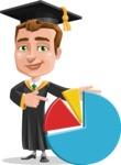 Male College Graduate Cartoon Vector Character AKA Tyler - Chart