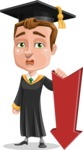 Male College Graduate Cartoon Vector Character AKA Tyler - Pointer 3