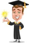 Male College Graduate Cartoon Vector Character AKA Tyler - Idea