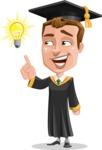 Male College Graduate Cartoon Vector Character AKA Tyler - Idea 2