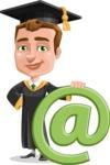 Male College Graduate Cartoon Vector Character AKA Tyler - Web