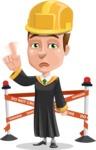 Male College Graduate Cartoon Vector Character AKA Tyler - Under Conastruction