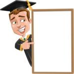 Male College Graduate Cartoon Vector Character AKA Tyler - Presentation 4