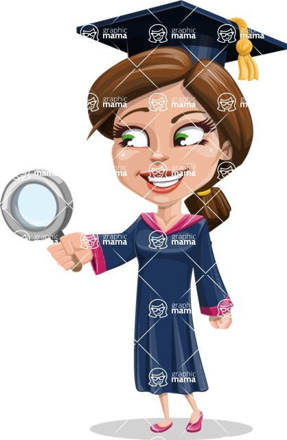 Cute Graduation Girl Cartoon Vector Character AKA Sheryl - Search