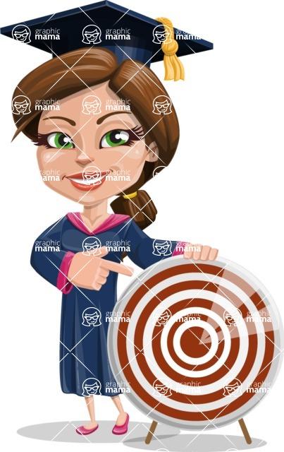 Cute Graduation Girl Cartoon Vector Character AKA Sheryl - Target