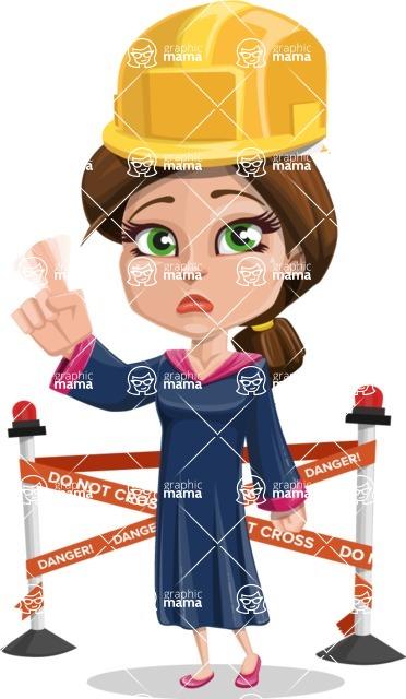 Cute Graduation Girl Cartoon Vector Character AKA Sheryl - Under Conastruction