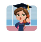 Cute Graduation Girl Cartoon Vector Character AKA Sheryl - Shape 2