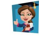 Cute Graduation Girl Cartoon Vector Character AKA Sheryl - Shape 3