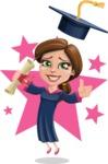 Cute Graduation Girl Cartoon Vector Character AKA Sheryl - Shape 6