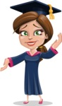 Cute Graduation Girl Cartoon Vector Character AKA Sheryl - Oops