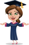 Cute Graduation Girl Cartoon Vector Character AKA Sheryl - Showcase