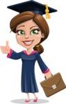 Cute Graduation Girl Cartoon Vector Character AKA Sheryl - Briefcase 2
