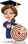 Cute Graduation Girl Cartoon Vector Character AKA Sheryl - Target