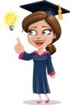 Cute Graduation Girl Cartoon Vector Character AKA Sheryl - Idea 2