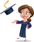 Cute Graduation Girl Cartoon Vector Character AKA Sheryl - Graduation Cap