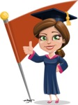 Cute Graduation Girl Cartoon Vector Character AKA Sheryl - Chackpoint