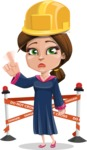 Cute Graduation Girl Cartoon Vector Character AKA Sheryl - Under Conastruction