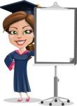 Cute Graduation Girl Cartoon Vector Character AKA Sheryl - Presentation 1