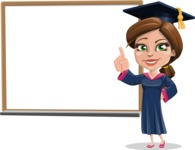 Cute Graduation Girl Cartoon Vector Character AKA Sheryl - Presentation 3