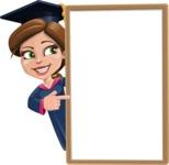 Cute Graduation Girl Cartoon Vector Character AKA Sheryl - Presentation 4