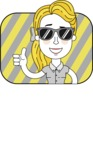 Geometry Blonde Girl Vector Character: Illuminating Yellow Edition 2021 - Shape 2