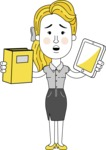Geometry Blonde Girl Vector Character: Illuminating Yellow Edition 2021 - Book and iPad