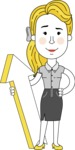 Geometry Blonde Girl Vector Character: Illuminating Yellow Edition 2021 - Pointer 1