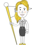 Geometry Blonde Girl Vector Character: Illuminating Yellow Edition 2021 - Checkpoint