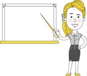 Geometry Blonde Girl Vector Character: Illuminating Yellow Edition 2021 - Presentation 3