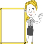 Geometry Blonde Girl Vector Character: Illuminating Yellow Edition 2021 - Presentation 4