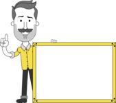 Minimalistic Man Vector Character: Illuminating Yellow Edition 2021 - Presentation 5