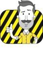 Minimalistic Man Vector Character: Illuminating Yellow Edition 2021 - Shape 2