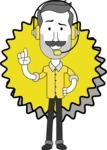 Minimalistic Man Vector Character: Illuminating Yellow Edition 2021 - Shape 8