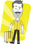 Minimalistic Man Vector Character: Illuminating Yellow Edition 2021 - Shape 10