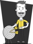 Minimalistic Man Vector Character: Illuminating Yellow Edition 2021 - Shape 12
