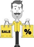 Minimalistic Man Vector Character: Illuminating Yellow Edition 2021 - Sale2