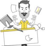 Minimalistic Man Vector Character: Illuminating Yellow Edition 2021 - Office Fever
