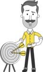Minimalistic Man Vector Character: Illuminating Yellow Edition 2021 - Target