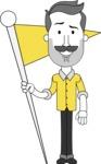 Minimalistic Man Vector Character: Illuminating Yellow Edition 2021 - Checkpoint