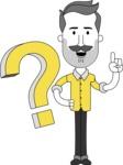 Minimalistic Man Vector Character: Illuminating Yellow Edition 2021 - Question