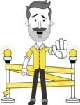 Minimalistic Man Vector Character: Illuminating Yellow Edition 2021 - Under Construction 2