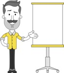 Minimalistic Man Vector Character: Illuminating Yellow Edition 2021 - Presentation 1