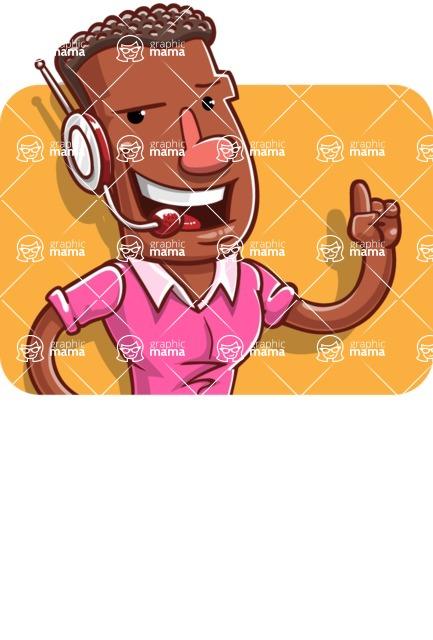 Vector African American Man Cartoon Character Design AKA Bud - Shape 1