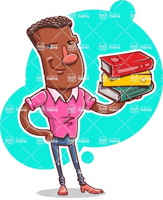 Vector African American Man Cartoon Character Design AKA Bud - Shape 10