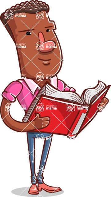 Vector African American Man Cartoon Character Design AKA Bud - Book 1
